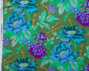 Kaffe Fassett Rustic Floral green GP 108 Westminster Rowan Fabrics FQ or more