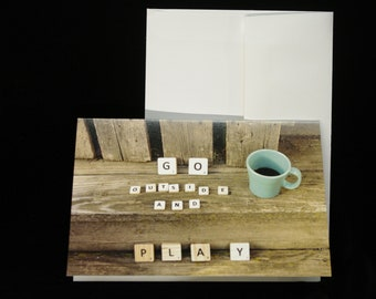 Blank Notecards 4x6 Go Outside and Play