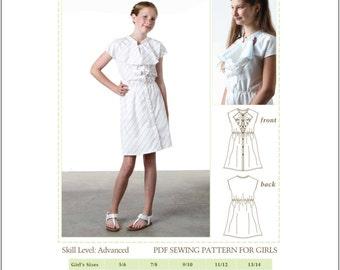 Kids Sewing Pattern, Tween Sewing Pattern, Woven Shift Dress, Tween Dress Pattern, pdf sewing pattern, digital pdf pattern,pdf dress pattern