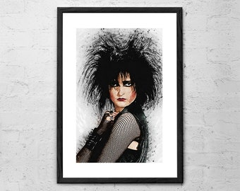 Siouxsie Sioux - Siouxsie and the Banshees - Illustration - Rock Poster - 80s - Gothic - Punk Rock - Siouxsie Sioux Poster - Post Punk Art