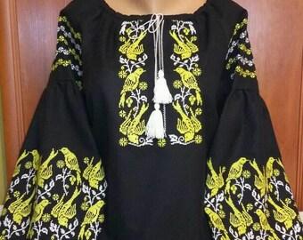 Ukrainian blouse vyshyvanka/Vyshyvanka/Peasant blouse/embroidered shirt/women's vyshyvanka /Ukrainian clothing/women's clothing