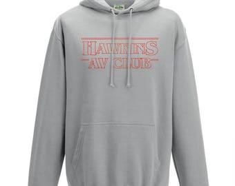 Stranger Things Hoodie Hawkins AV Club Hoodie Sweater Sweatshirt Pullover Stranger Things Gift Kids Hoodie Friends Don't Lie Bitchin