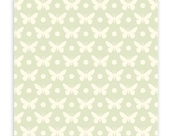 Lottie Da Butterfly Dot in Dove by Heather Bailey for Free Spirit, 100% Cotton Quilting Fabric Apparel, 1 Yard Cu