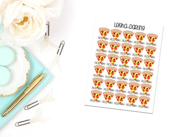 Kawaii Pizza Night/Food Planner Stickers