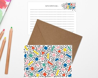 80s Geometric Graphic Pattern Cards
