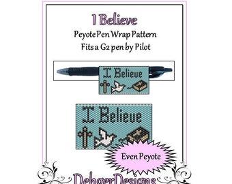 Bead Pattern Peyote(Pen Wrap/Cover)-I Believe