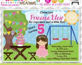 371: DIY - A Princess At The Park Party Invitation Or Thank You Card