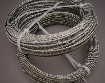 Light 7mm Continuous Spiral Wire for Corsetry  25m rolls LIMITED STOCK!