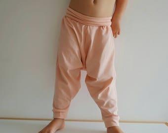 Organic Harem Pants - Baby Harem Leggings - Organic Baby Leggings - Toddler Harems - Hipster Baby - Toddler Gift - Pink Harem Toddler Pant