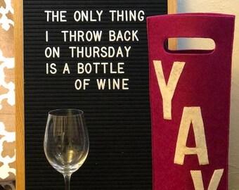 YAY Wine Tote