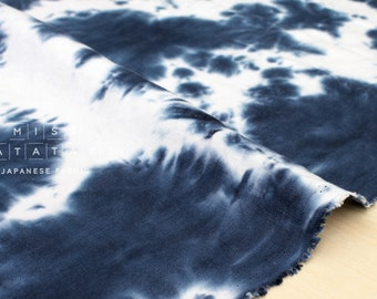 Japanese Fabric handprinted 100% linen  - 2 -  50cm