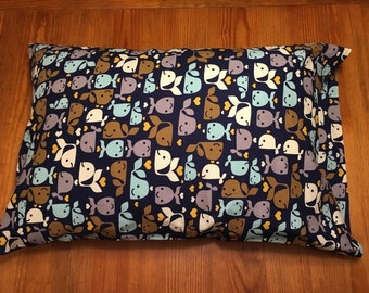 Whale Print Pillowcase