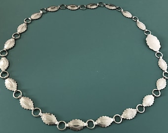 Vintage Silver toned Indian Tribal Inspired Conch Belt