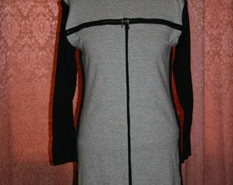 90s Bodycon Dress Grey Long Sleeve Small Medium