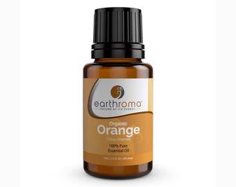 Organic Orange Essential Oil   5 mL   15 mL  30 mL   100% Pure Therapeutic Grade