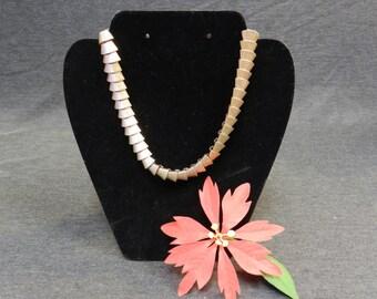 Vintage Gold Tone  Ribbed Necklace/ Choker - Goldtone, Snake, 1980s Glam