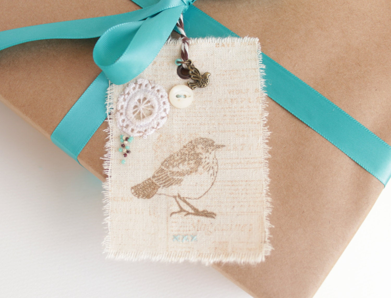 Fabric Tags Gift Tags Wedding Gift Tags Personalized Gift