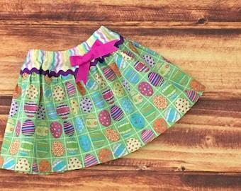 Easter Skirt for Girls, Easter Egg Hunt, Baby Girl Easter Skirt, Toddler Easter Skirt, Easter Egg Outfit,  Infant Easter Skirt, Handmade