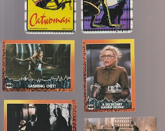 Lot of 6 assorted Catwoman trading cards/sticker cards Selina Kyle Michelle Pfeiffer