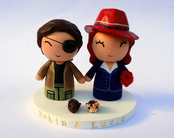 Custom Wedding Topper - Agent Carter and Snake Plissken
