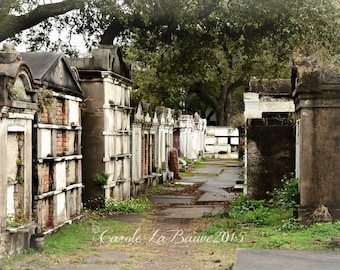 NEW ORLEANS CEMETERY Photography ~ Lafayette Cemetery #1 ~ Garden District ~ New Orleans, Louisiana