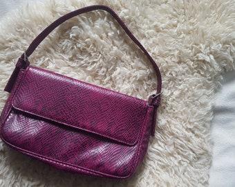 Handbag Clutch Snake optics 2000s vibes Pink Magenta