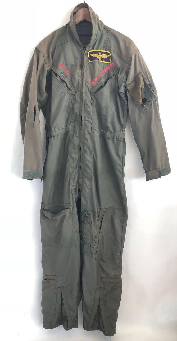 """80's Naval Flight Suit ~ """"Devils Disciples"""" Squadron VF-301"""