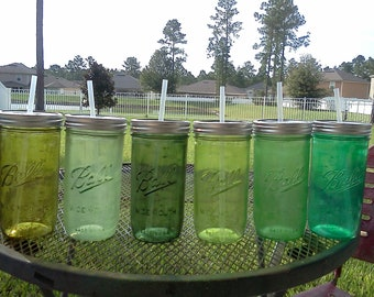 Ball Mason Jar Sippy Cup - - CHOOSE YOUR COLOR - 24 oz Tumbler - Green