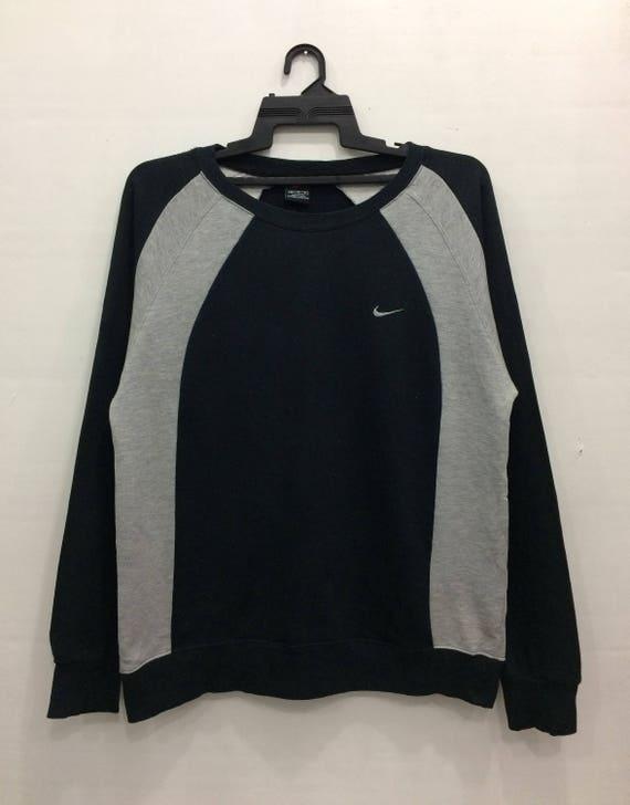 Nike Sweatshirt Jumper Small Logo Medium Size Black Color Chest 20.5 EQ31yX0I