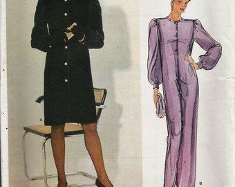 Vintage Designer Sewing Pattern By Givenchy / Vogue Paris Original 1278 / Dress gown / Size 8