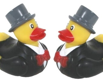 Mr and Mr Wedding Rubber Ducks 500-182
