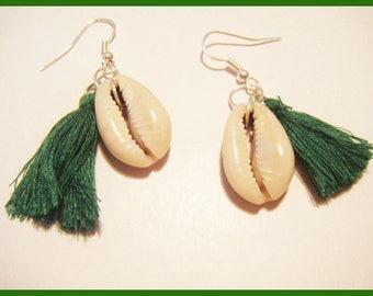 Shell tassel earrings was