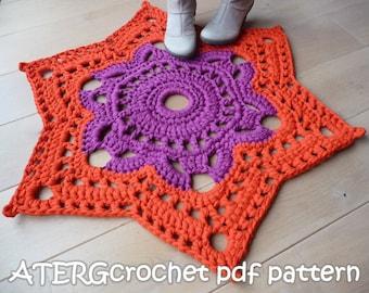 Crochet pattern STAR RUG by ATERGcrochet - XL crochet