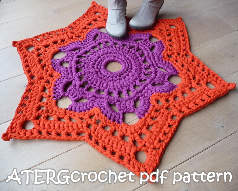 Crochet pattern STAR RUG by ATERGcrochet XL crochet