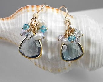 Blue Quartz Crystal Earrings are Lightweight and Comfortable for Summertime Fun