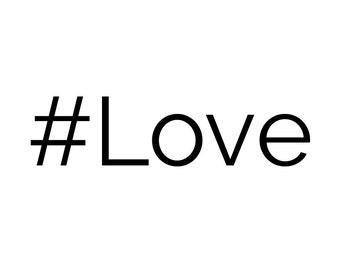 Hashtag Love Sticker Vinyl Decal