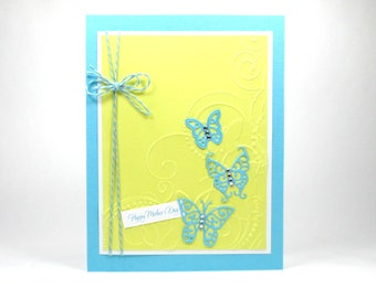 Mother's day cards, Mother's day greeting cards, butterfly Mother's day card, butterflies, Mother's day for wife, Mother's day for daughter