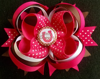 Lil Cowgirl Stacked Boutique Hairbow