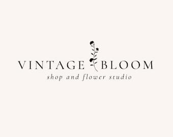 Premade Logo - Logo Design - Feminine Logo - Business Logo - Blogger Logo - Brand Design - Floral Logo - Blog Header