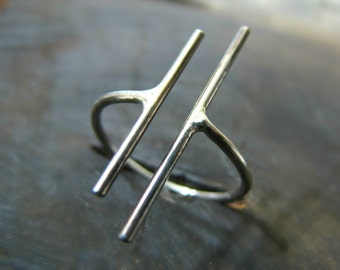Unique Sterling Silver Ring - sterling silver knuckle ring / silver band ring