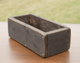 "12"" Rustic Planter Box, Centerpiece Reclaimed Wood, Succulent, Wedding Centerpiece, Rustic Centerpiece, Herb Box, Wooden Box, Farm, Flowers"