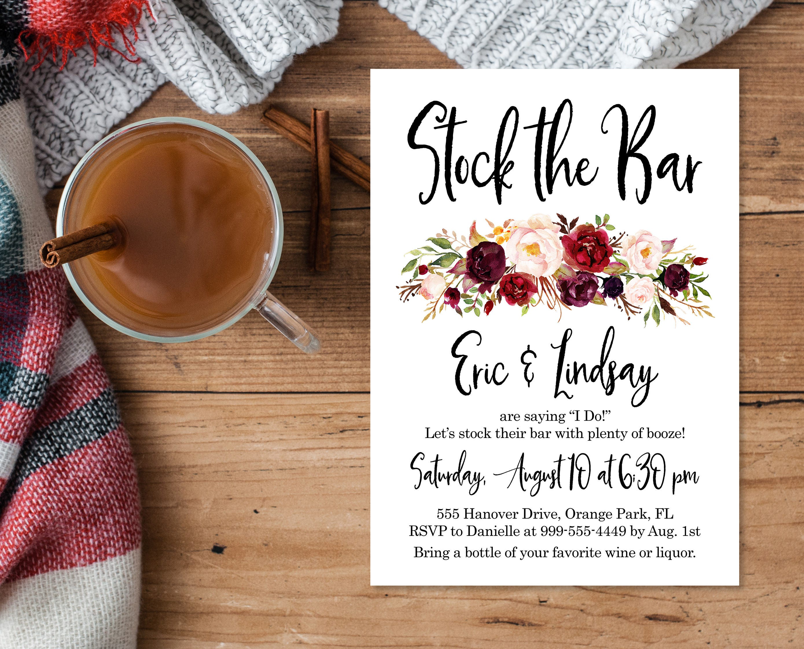 Wonderful Stock The Bar Wedding Shower Invitations Contemporary ...