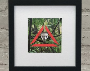 Predator Inspired 3D Masked Predator Framed Artwork