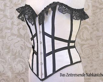 Overbust-corset, corset, Gothic, Burlesque, Steampunk - unique item!