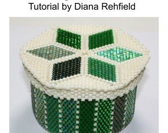 Beadweaving-Covered Container tutorial