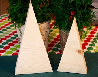 Wood Christmas Tree Craft Kit, Christmas Crafts for Kids, Unfinished Wood Painting Crafts, Wooden Christmas Tree, Easy Craft, FREE SHIPPING