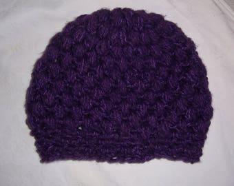 handmade purple warm cap