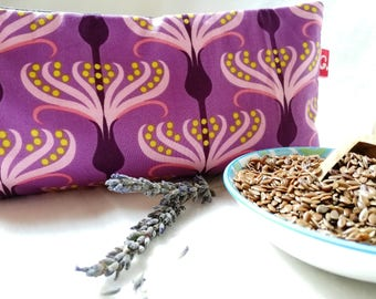 Eye pillows, relaxation, meditation, wellness, lavender, flax seed, wellbeing, purple, Umbel, grey
