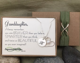 Gift for GRANDdaughter Necklace for Granddaughter Gift - Birthday Gift for Her - 10th Birthday Sweet 16 18th birthday 16th Birthday Gift