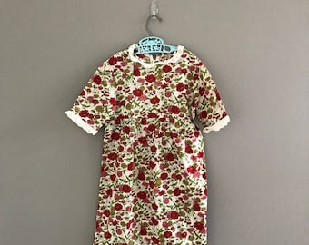 Vintage Size 5/6 Floral Peasant Dress